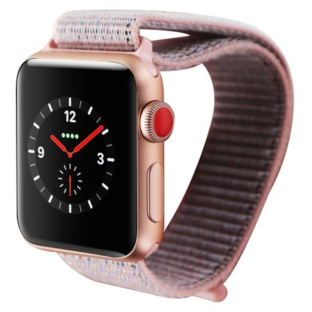 reputable site b3a91 78721 Apple Watch Series 3 (38mm) - MQJU2LL/A Gold Case & Pink Sand Loop GPS +  LTE (Refurbished)