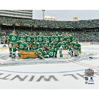Dallas Stars Unsigned 2020 NHL Winter Classic Team Celebration Photograph