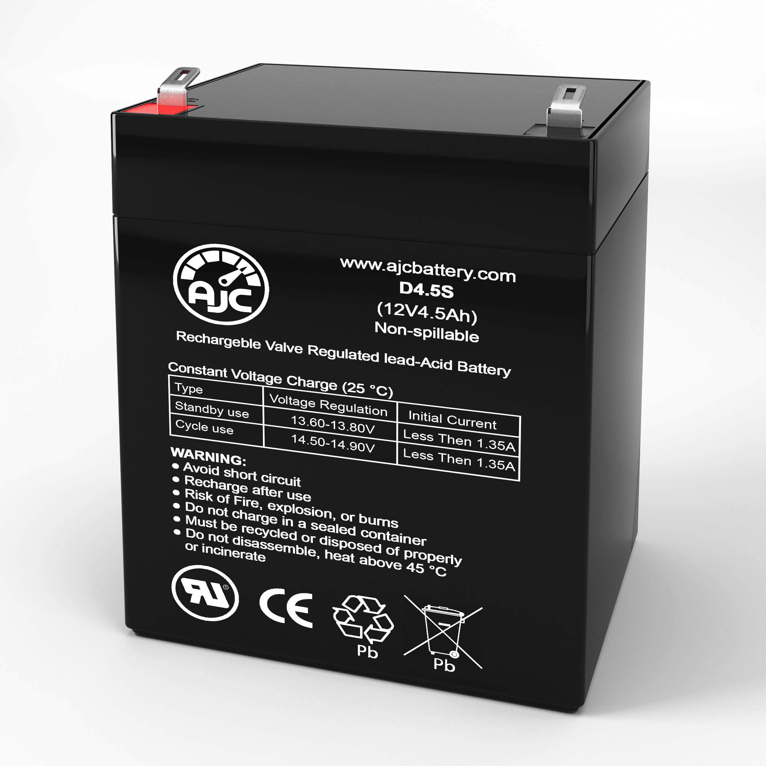 This is an AJC Brand Replacement Fenton PowerOffice S450A 12V 5Ah UPS Battery
