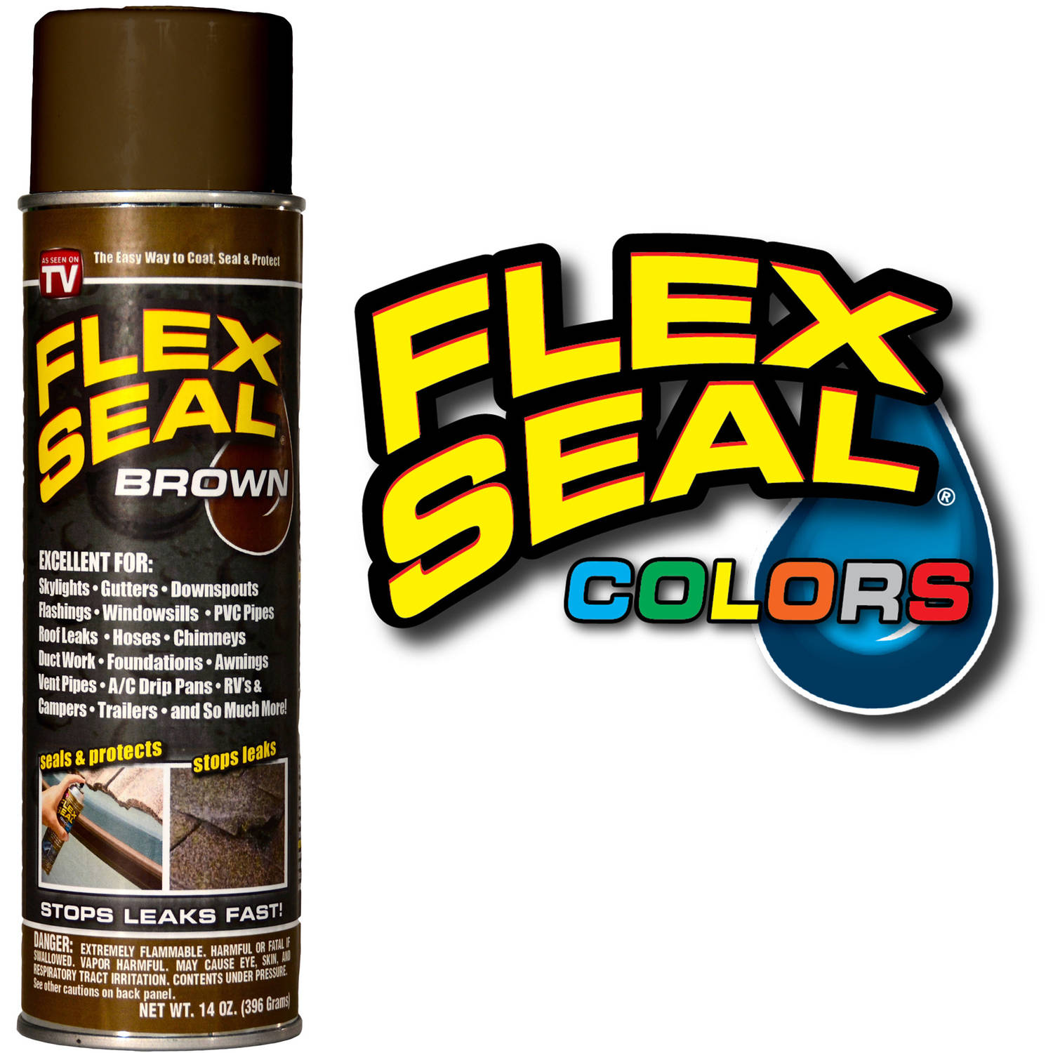 Flex Seal, Brown, 14 oz