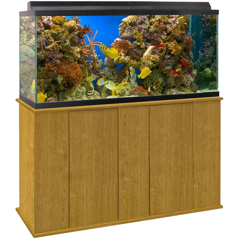 Upright Aquarium Stand Oak 75 90 Gallon Walmart