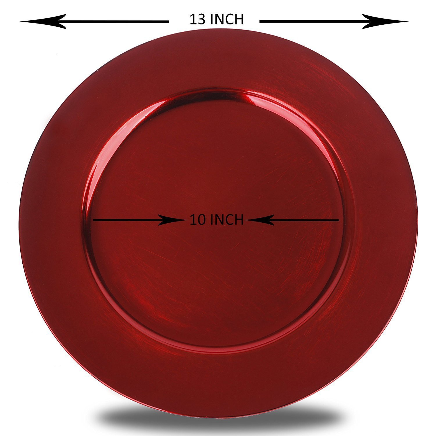 Luxurious Round Charger Dinner Plates, Burgundy, Red 13 inch, Set of 1,2,4,6, or 12 (1) - Up Your Dinner Game