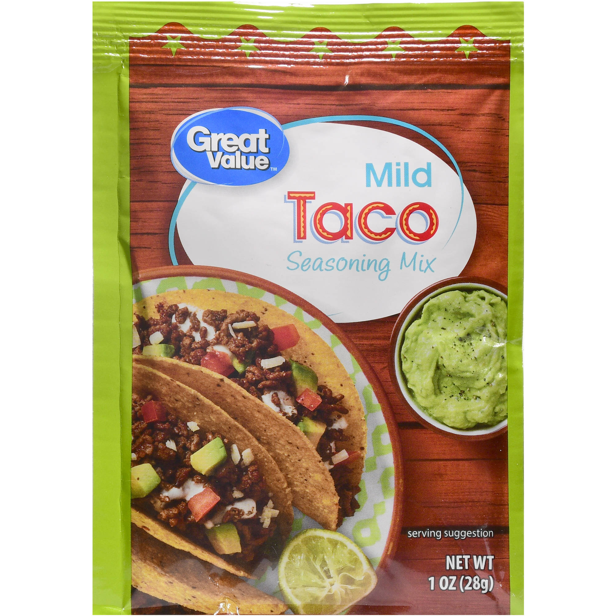 Great Value Taco Seasoning Mix, Mild, 1 oz