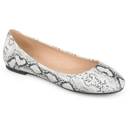 - Brinley Co. Women's Comfort Sole Faux Leather Round Toe Flats