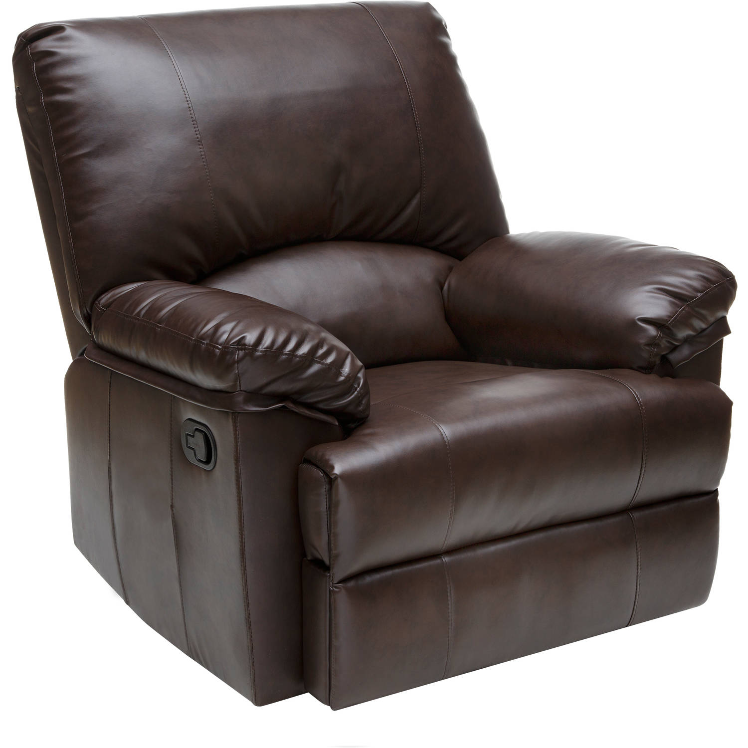 Relaxzen 23-7000WM Rocker Recliner, Brown Marbled Leather