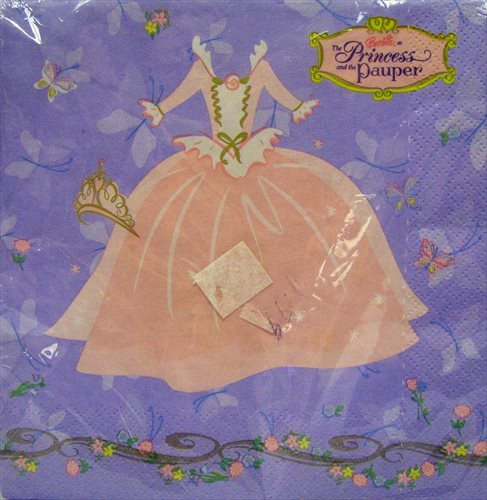 Barbie 'Princess and the Pauper' Lunch Napkins (16ct)