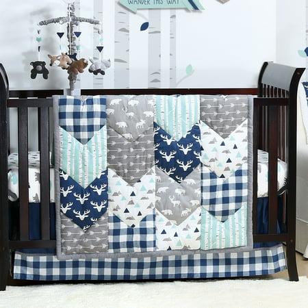 Woodland Trail 6 Piece Baby Boy Crib Bedding Set Mountain