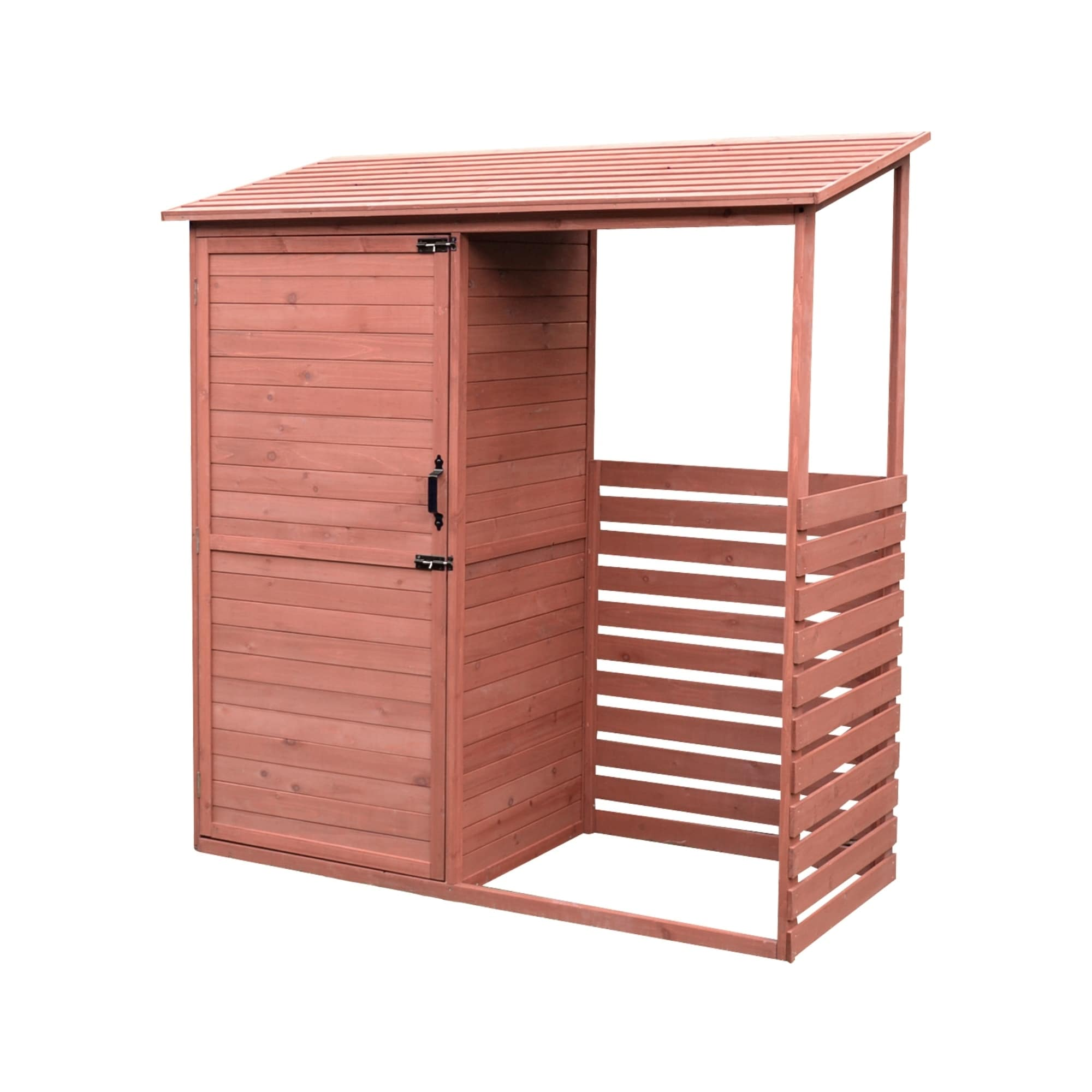 Leisure Season Combination Firewood and Storage Shed