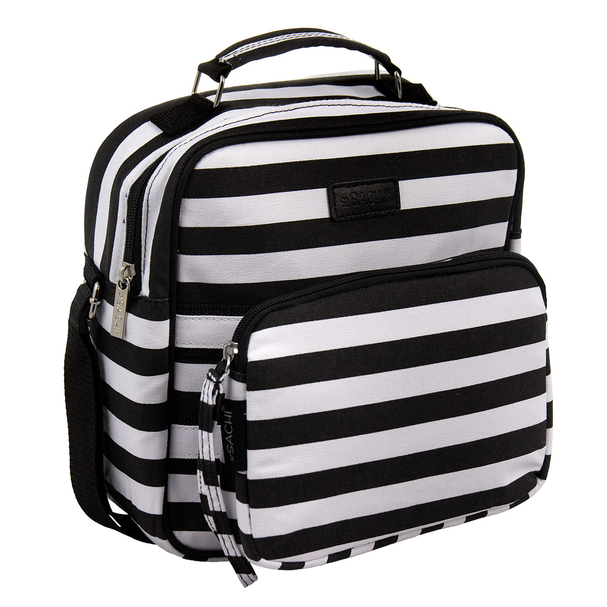 Sachi Convertible 2 in 1 Cross-body Canvas Insulated Leak Proof Tote Lunch Bag