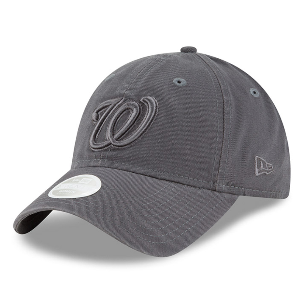 Washington Nationals New Era Women's Tonal Core Classic 9TWENTY Adjustable Hat - Graphite - OSFA