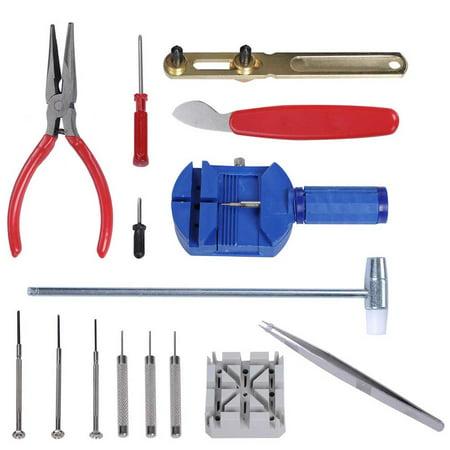 16 Pcs Watch Repair Tool Kit Link Remover Spring Bar Tool Case Opener Screwdriver