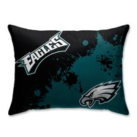 Philadelphia Eagles Splatter Plush Bed Pillow - Green