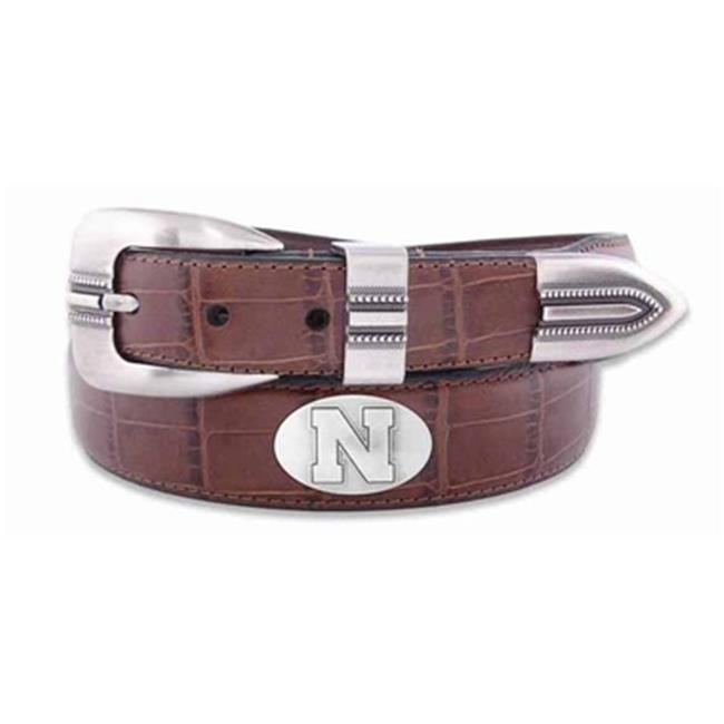 ZeppelinProducts UNE-BOLPTCRC-TAN-42 Nebraska Concho Croc Tan Leather Belt, 42 Waist - image 1 of 1