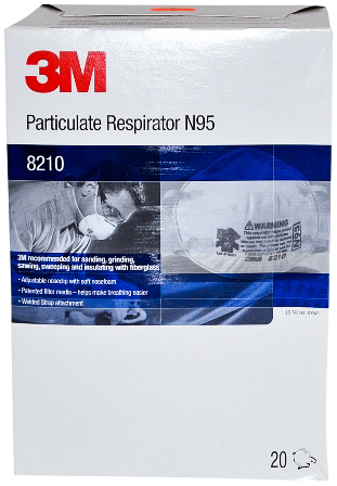 80 Masks, 3M Particulate Respirator N95 8210, MS-92530 by R3 Safety