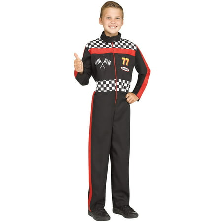 Race Car Driver Child Halloween Costume - Homemade Race Car Halloween Costume
