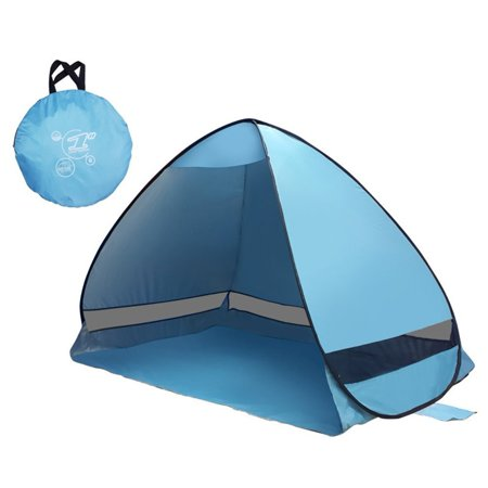 Automatic Instant Pop Up Beach Tent Sun Shelter - Portable Outdoor 2-3 Person Anti UV Fishing Picnicing Beach Shade Cabana - Quick Set Up in Seconds