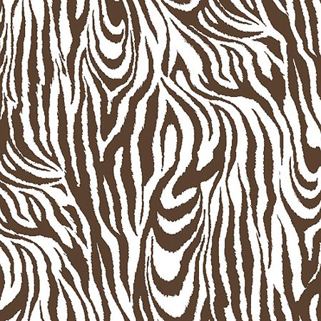 Creative Cuts Cotton Fabric Large Zebra Print Brown