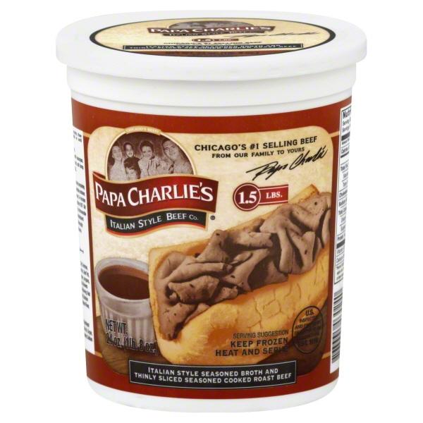 Papa Charlie's Italian Style Beef, 24 oz