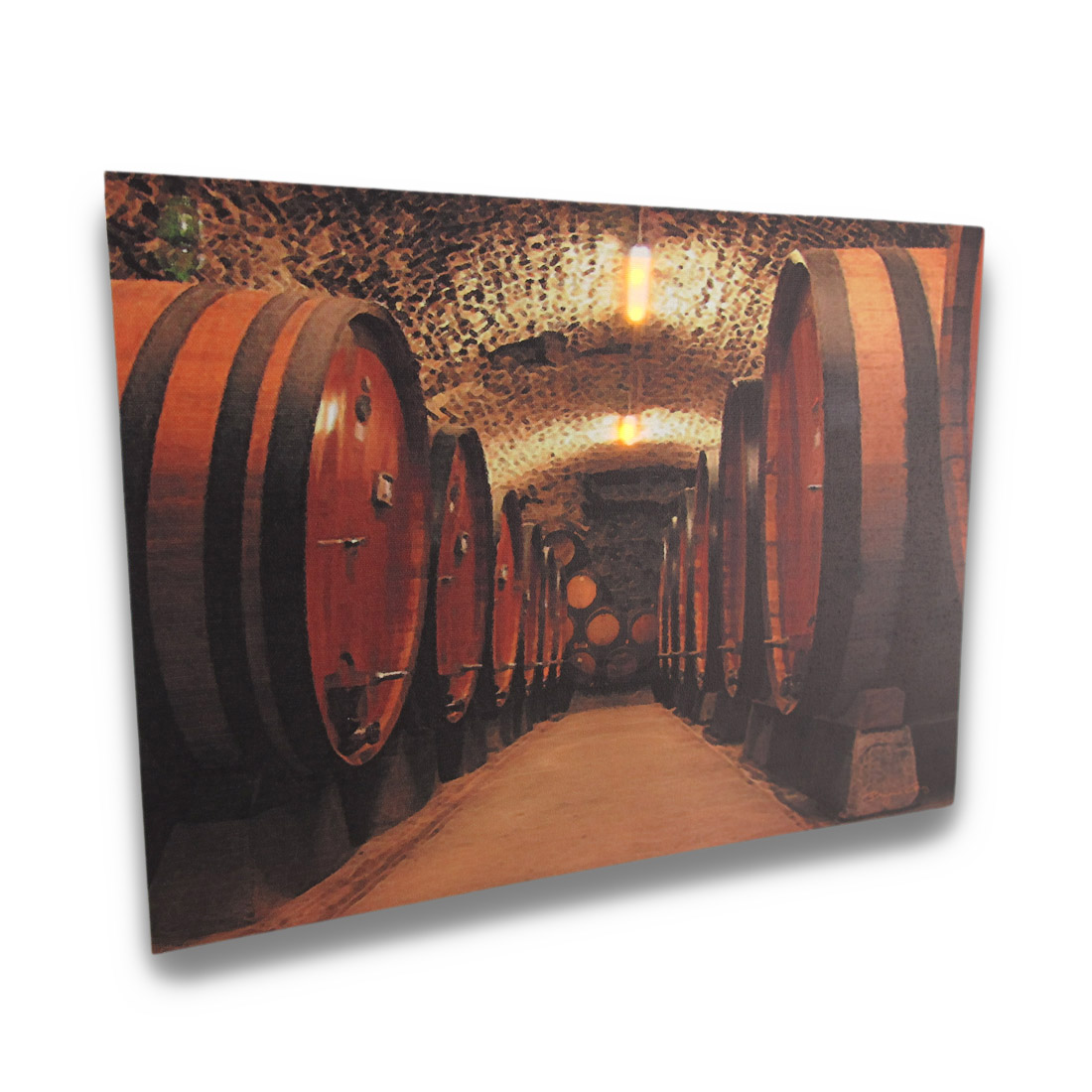 Wine Cellar Canvas Print with LED Lights Wall Hanging