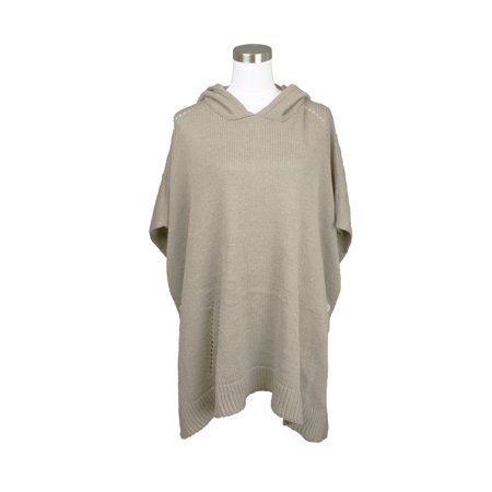 - Womens Fall and Winter Knitted Hooded Poncho Sweater Top