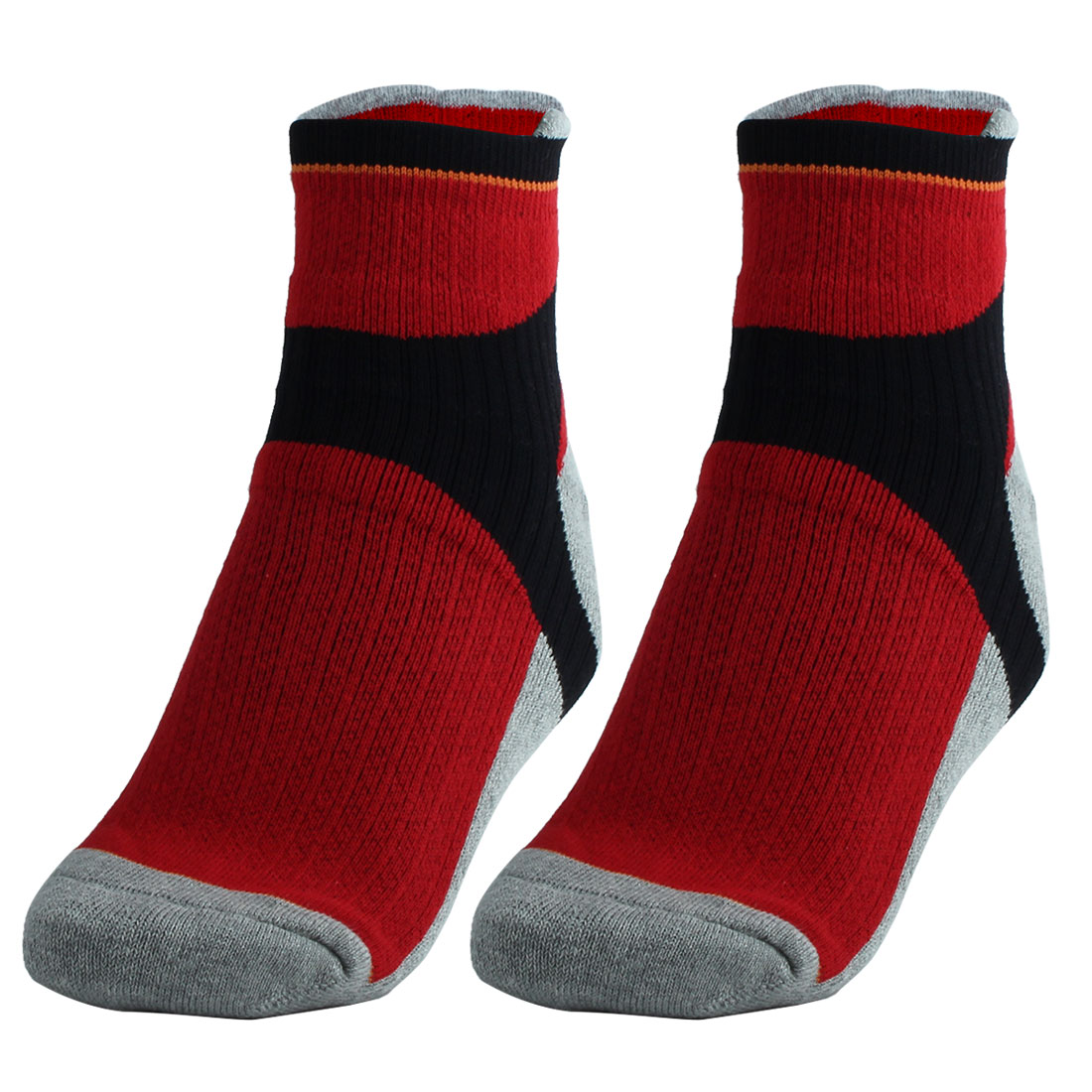 R-BAO Authorized Adult Badminton Athletic Mountain Bike Cycling Socks Red Pair