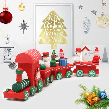 Christmas Woods Small Train Xmas Festive Decorations Kids Gifts Santa Ornament ()