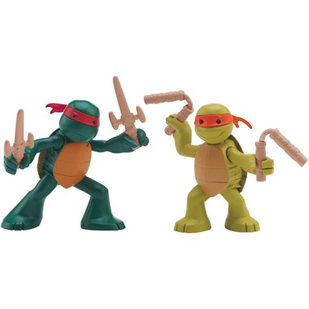 Teenage Mutant Ninja Turtles Ninjas in Training Mikey & Raph Action Figures