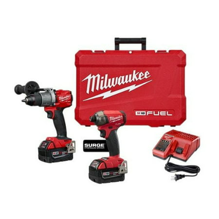 Milwaukee 2999-22 M18 FUEL Brushless Cordless Surge Impact and Hammer Drill Kit