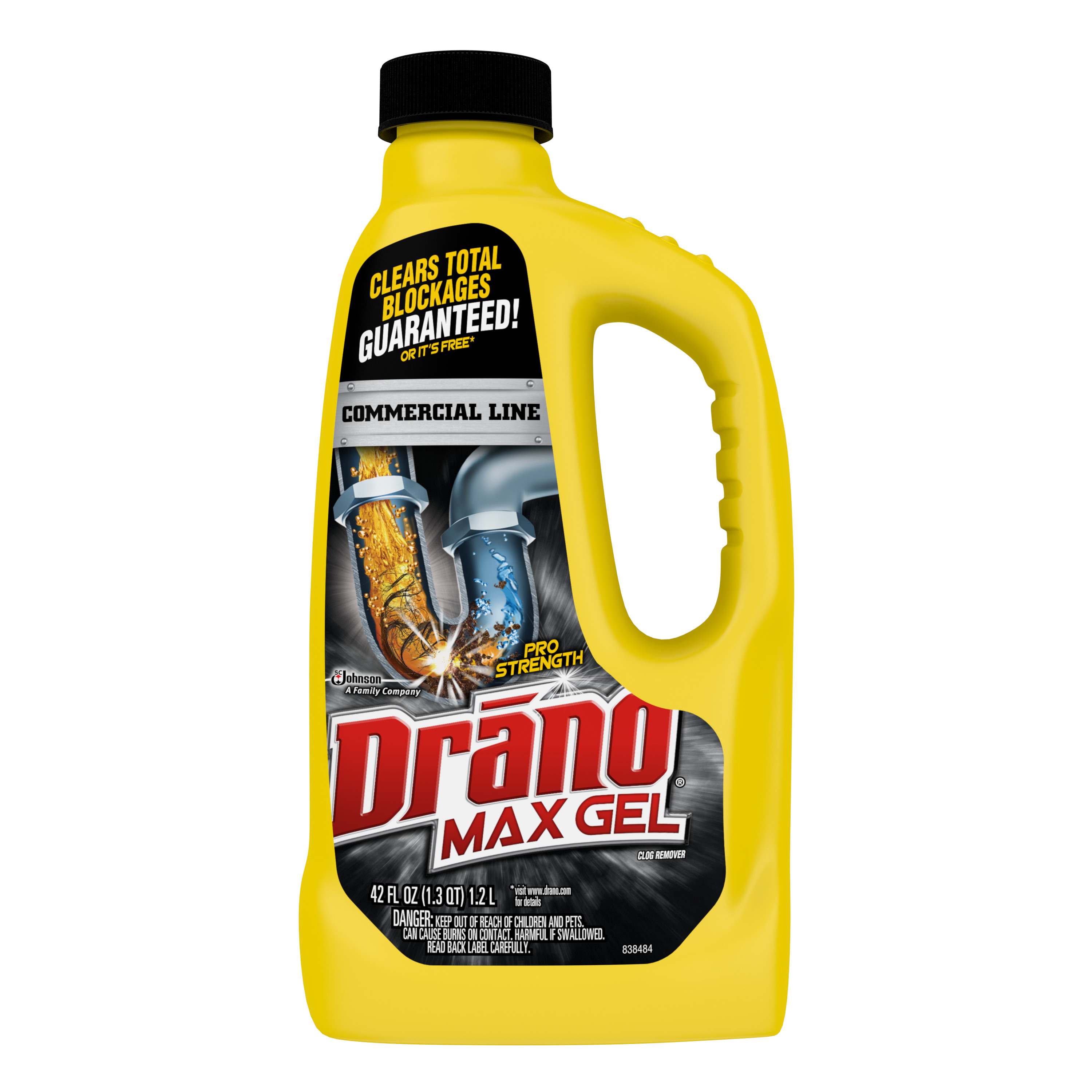 Drano Max Gel Clog Remover 42 Ounces. Commercial Line