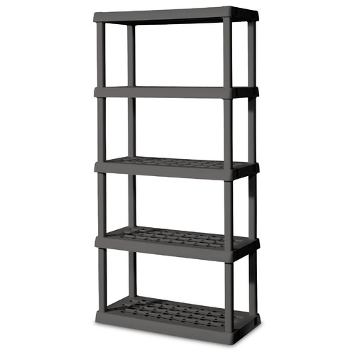 Sterilite 75'' H 5 Shelf Shelving Unit Starter
