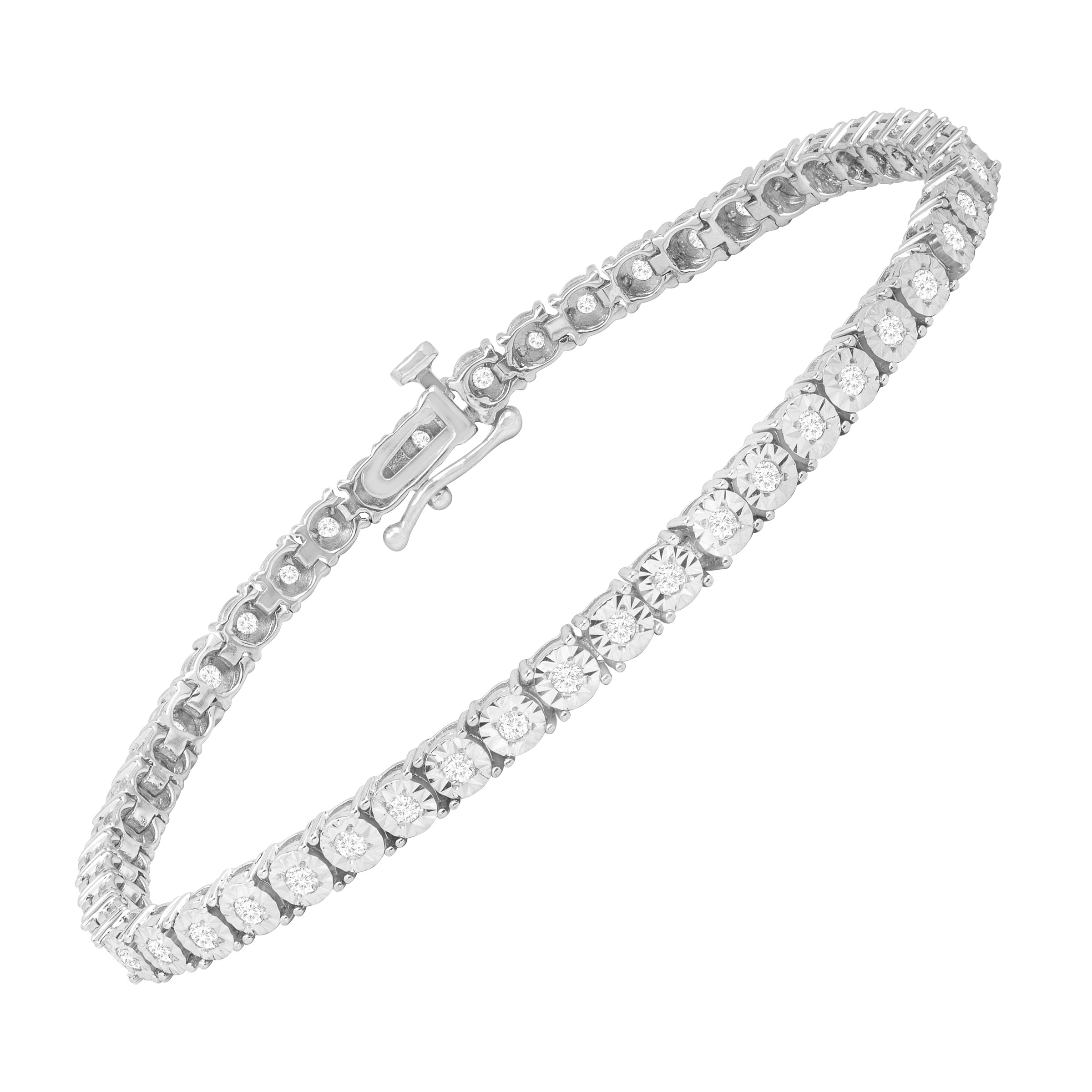 1 ct Diamond Tennis Bracelet in Sterling Silver by Richline Group