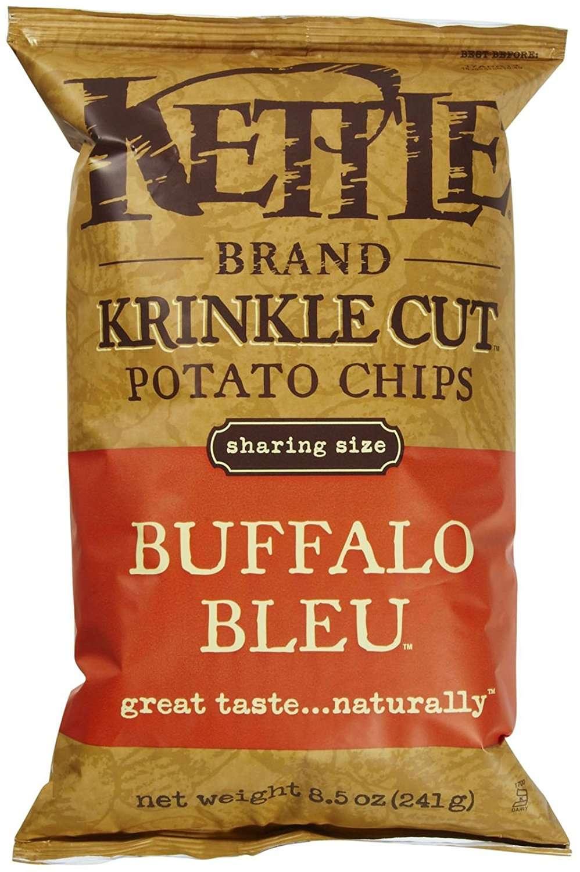 Kettle Brand Krinkle Cut Potato Chips, Buffalo Bleu, 8.5 Oz by Snyder's-Lance