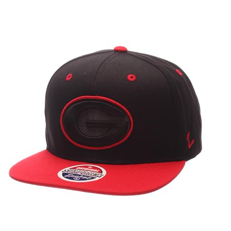 Georgia Bulldogs UGA Snapback Hat Zephyr Z11 Phantom Black Cap - Walmart.com 607d4001c87
