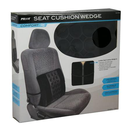 pilot automotive universal orthopedic comfort car seat cushion wedge back strap. Black Bedroom Furniture Sets. Home Design Ideas