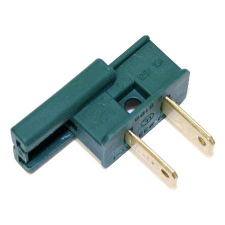 Action Lighting 00105   Green Male Polarized 7 Amp Zip Wire Plug  12 Pack  For Christmas Set