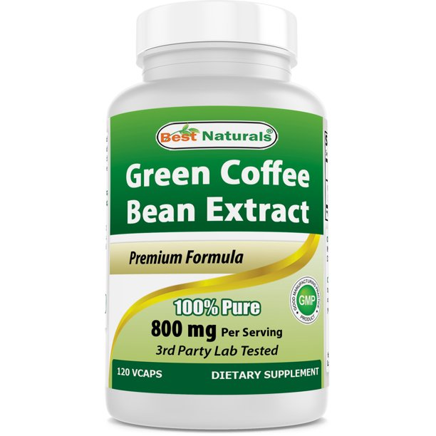 Best Naturals Green Coffee Bean Extract 800 Mg 120 Vcaps Walmart