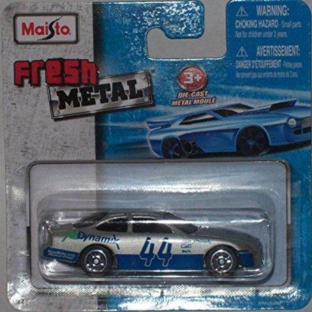Maisto Fresh Metal Die-Cast Vehicles ~ Ford Tauras #44 Ad Dynamix Stock Car (Silver)