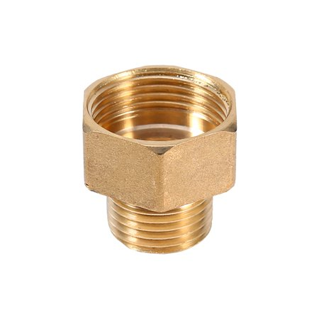 Yosoo 1pc Brass Water Pipe Hex Bushing Reducer Adapter 1/2BSPT Male and 3/4BSPT Female Thread, Brass Pipefitting - image 5 of 5