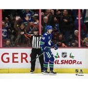 Elias Pettersson Vancouver Canucks Unsigned Goal Celebration Photograph