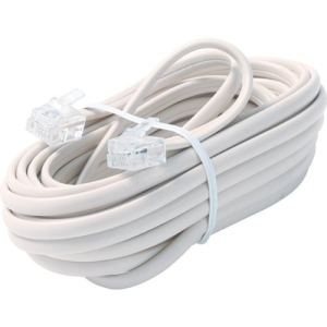 15FT 6-WIRE TELE LINE CORD IVR PREMIUM RETAIL BLISTER PACK