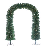 Gerson 7.5-Foot High Pre-lit Arch Tree with Clear White Lights