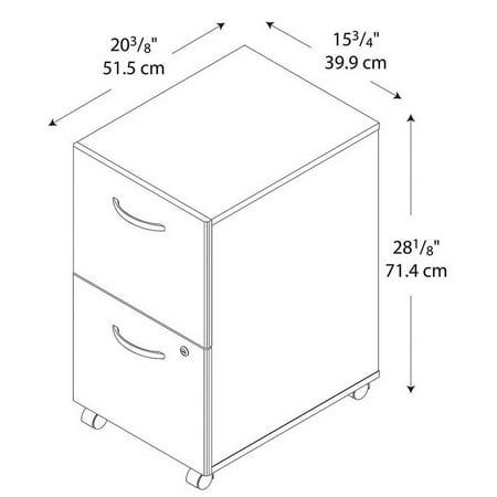 Bush Business Furniture Series C 2 Drawer Mobile File Cabinet in Oak - image 2 of 6