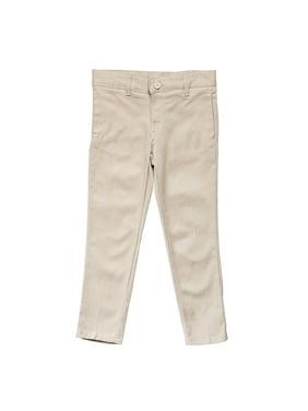 French Toast Girls Plus School Uniform Adjustable Waist Stretch Twill Skinny Pants (Plus)