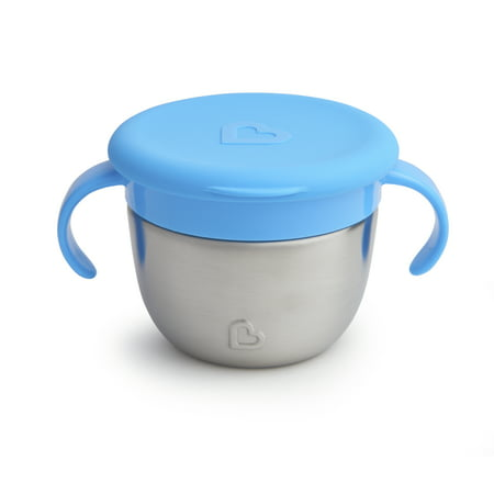 Spill Snack Cup - Munchkin Snack Catcher Stainless Steel Snack Cup, Blue