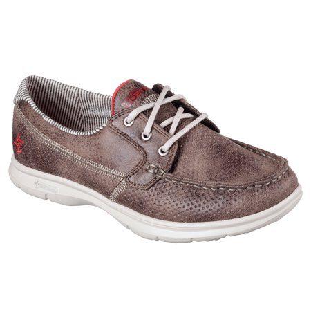 Skechers 14426BRN Women's GO STEP - SHORE Walking (Womens Skechers Go Step Marina Boat Shoe Taupe)