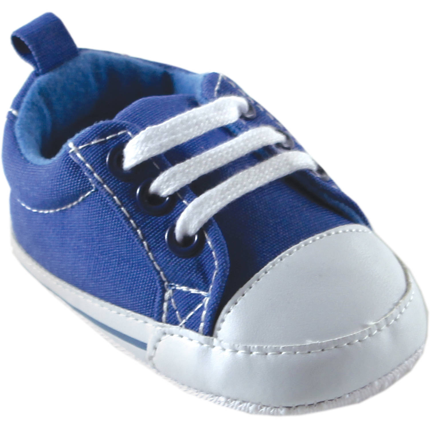 Luvable Friends Newborn Baby Boys Basic Canvas Sneakers