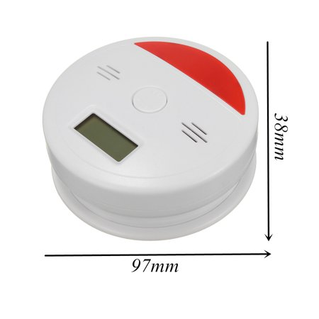 2 In 1 Battery Operated LCD Carbon Monoxide & Smoke Alarm / CO Carbon Monoxide Detector Fire Sensor Alarm Sound Combo Sensor Tester with Digital Display - image 6 of 10