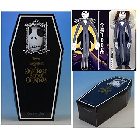 The Nightmare Before Christmas Jack Skellington Jumbo plush with Coffin Box