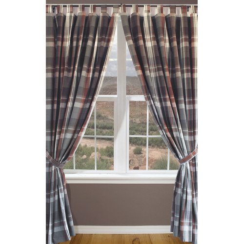 Carstens Inc. Grand Teton Plaid Tab Drape Set