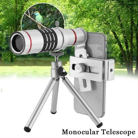 Filfeel 18X Cellphone Monocular Telescope Lens Kit Long Tube Telescope for Mobile Phone, Telescope,Camera